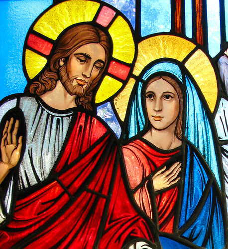 pictures of jesus and mary. Jesus and Mary at the Wedding of Cana