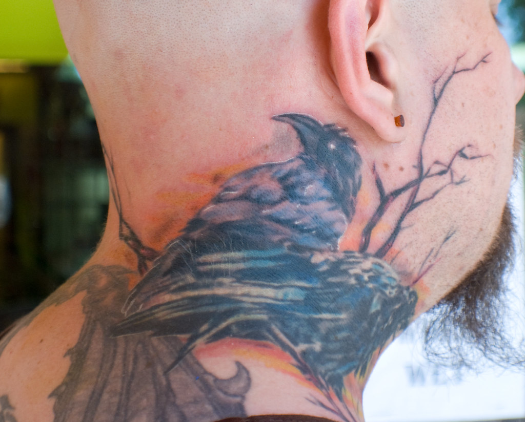 The world 39 s best photos of muninn and tattoo flickr hive for Ravens face tattoos