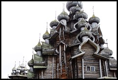 Kizhi island, Transfiguration church, detail (My soul in pixel..) Tags: church island russia karelia csi transfiguration woodenchurch petrozavodsk kizhi onega onegalake emilius