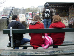 Tourists on the Seine