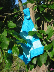 turquoise kitchen towel (amorabrancasilvestre) Tags: home knitting gift towels