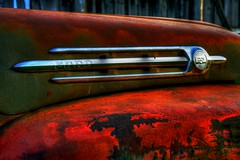 Rust (saxaphonium) Tags: old red canada green truck canon rebel rust rusty gimp chrome saskatchewan xs hdr photomatix canonef50mmf18ii tonemapped photomatixpro tonemapping niftyfifty rebelxs mywinners detailenhanced canonniftyfifty detailenhancement canoneos1000d eos1000d canoneosdigitalrebelxs photomatixpro32