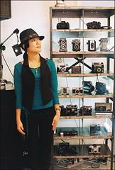 dream item?! (Twiggy Tu) Tags: camera film me japan tokyo shibuya 2008 twiggy contaxrx carlzeissplanart50mmf14 photobybrad cameracabaretgrandshop