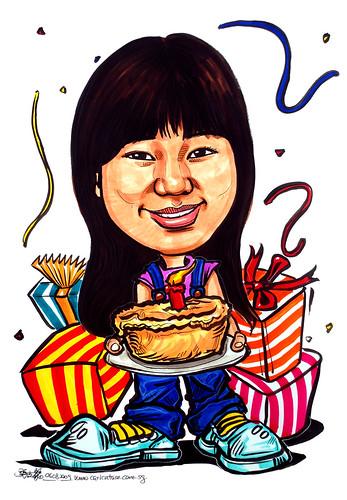 Birthday caricature 070809