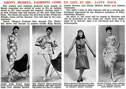 Ebony's Fashion Fair Around the Clock - Jet Magazine, March 27, 1958
