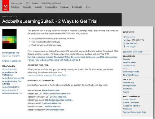 Adobe eLearning Suite: Getting the Trial