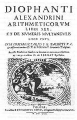 Portada del libro Arithmetica de Diofanto