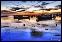 The Silent Sea ! (Bashar Shglila) Tags: sunset sea sky clouds marina boats libya tripoli  libyen     lbia libi   libiya aplusphoto liviya libija platinumheartaward  mirrorser gergaresh    lbija  lby libja lbya liiba livi
