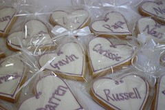 Personalised Placecard Wedding Cookies (ConsumedbyCake) Tags: wedding white tower college cakes cookies cake fruit silver hearts sussex cupcakes worthing brighton blossoms lilac cupcake cutting hydrangea venue hydrangeas placecard consumedbycake