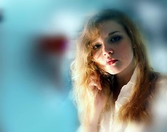 Goodbye again (F. C. Photography) Tags: blue portrait girl photoshop john lyrics thought song denver again blonde goodbye wish ponder sorrow stay johndenver