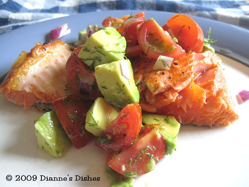 Better Bites: Pan Seared Salmon With Tomato Avocado Relish