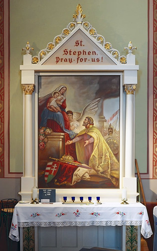 Saint Mary of Victories Church, in Saint Louis, Missouri, USA - Altar of Saint Stephen of Hungary