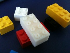 Makerbot Printed Lego-Compatible Block