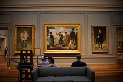Three's a crowd. (yonas1) Tags: museum washingtondc dc couple paintings couch sofa dcist kissyface nationalgalleryofart