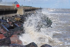 A Wave Against The Rocks (EJ Images) Tags: uk england slr water suffolk nikon waves breakingwave lowestoft nikonslr d90 northparade nikond90 englandsmosteasterlypoint ejimages