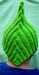 Bright Green Pointed Pixie Hat, Back View (MountainEagleCrafter (Catching Up)) Tags: green hat fun bright knit handknit handcrafted etsy elfhat pixiehat fairyhat handknithat eangteam
