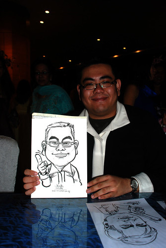 Caricature live sketching for The Law Society of Singapore - 6