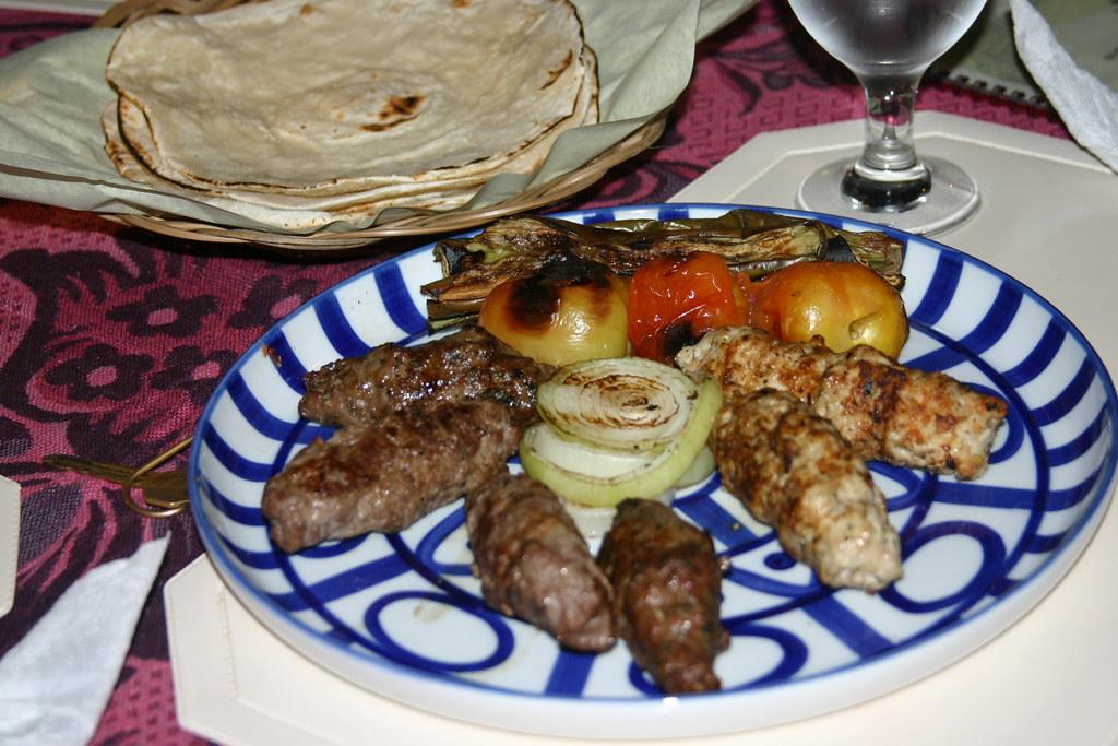 Mixed Kebabs with Pita