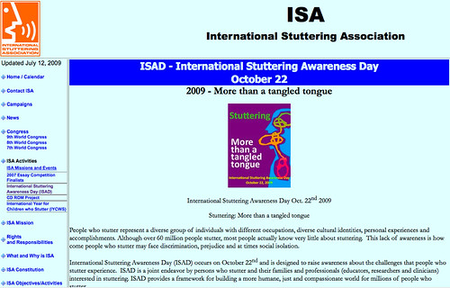 International Stuttering Association - ISAD