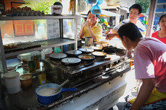 Popular pancake van, Outside Kwai Lock Coffeeshop, Pulau Tikus, Georgetown