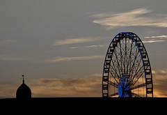DSC_9991 (I.R.P Images) Tags: sunset sky wheel cityscape ferris line