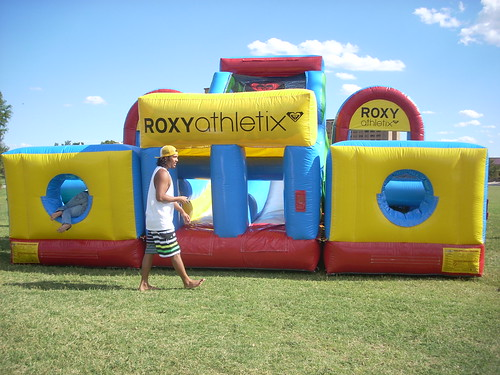 Texas Tech Athletix College Tour: This is our Bounce House!