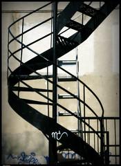 Montreal swirl (Sue, Toronto) Tags: graffiti stair escape montreal swirl