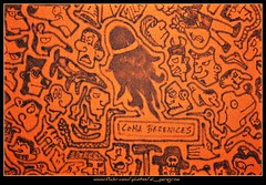 La chioma di Berenice (El Peregrino) Tags: orange disegno arancione telo costellazione comaberenices chiomadiberenice