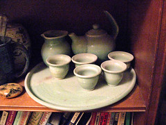 Chinese Tea Set (igo2cairo) Tags: pottery greentea chineseteaset