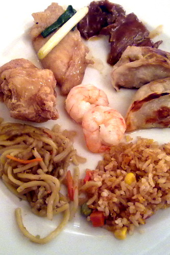 Chinese food at Plaza Cafe buffet