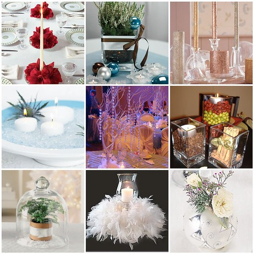 Winter Wedding Centerpieces by soo12