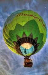 Up and into the air (JoelDeluxe) Tags: newmexico balloons hotair albuquerque nm joeldeluxe 2009 hdr albuquerqueinternationalballoonfiesta