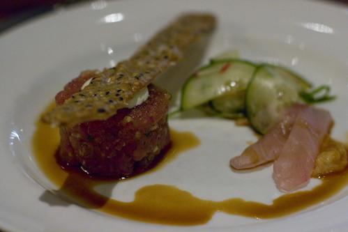 Spicy Tuna Tartare and Yellowtail Sashimi