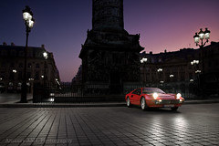 Ferrari 308 GTB - Vendme (Amaury AML) Tags: auto street light sunset red sky paris france cars car square rouge lights italian automobile shoot italia place shot streetlamp lumire ferrari voiture cobble exotic nuit phare supercar exotics gtb vendome quattro shotting 308 wauw vendme digitalcameraclub