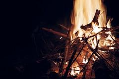to warm your night (cosmonautix) Tags: city film analog 35mm fire warmth poland polska krakow olympus olympusom1 bigcitylife zakrzowek