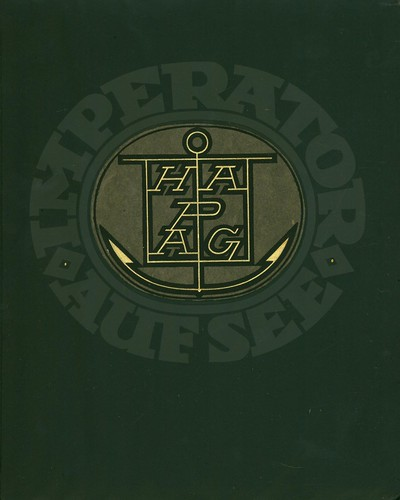 Illustrated Boards cover, Imperator auf See, 1913.