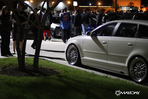 Audi Wagon looking into the Meet's crowd
