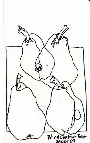 Blind Contour Pears