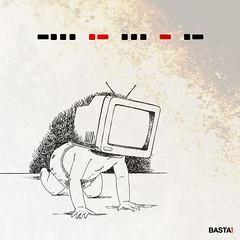 (Movimento Basta) Tags: television poster design tv kid milano comunicazione poli basta politecnico polimi bastadirebasta movimentocreativo marcopelà movimentobasta