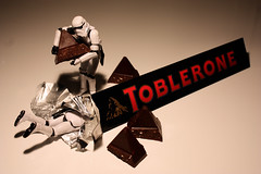 Chocolate Deposit (Stfan) Tags: food black toy actionfigure starwars candy chocolate stormtroopers mining stormtrooper figurine toblerone jouet chocolat hasbro project365 stormtroopers365