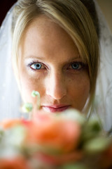 The Bride (Dan. D.) Tags: portrait woman eye girl look bride weed weeding