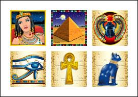 free Jackpot Cleopatra's Gold slot game symbols