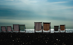 Deckchairs Relaxing, Brighton