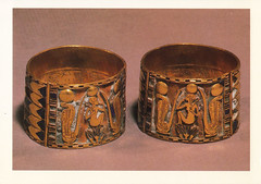 UNESCO Gold Bracelets Postcard (crayolamom) Tags: africa art museum gold ancient postcard egypt jewelry unesco egyptian bracelets whs 22nddynasty nimlot 940bc