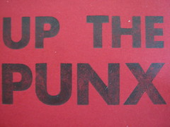 Up the Punx (artnoose) Tags: red punk business card letterpress upthepunx