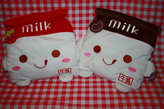 Milk (Verokitschy) Tags: cute smile smiling happy milk bed stuffed strawberry soft chocolate plush pillow kawaii plushie decor cushion janetstore milkplush milkcushion milkpillow