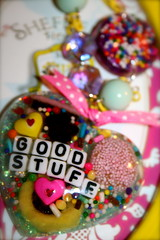 Gimme That Good Stuff (athinalabella1) Tags: new pink cute glitter hearts fun cupcakes yummy rainbow colorful crystals yum candy heart sweet chocolate girly kitsch jewelry sugar chain delicious cupcake sprinkles kawaii etsy licorice athinalabella
