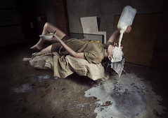 Milked Out My Mind! (samwilson.) Tags: girl photoshop milk nikon sam floating wilson concept levitating bowens conceptphoto