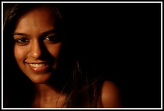 pk-3 (eopath) Tags: lighting light portrait woman india lamp girl beautiful smile face fashion wall sepia dark hair happy photography photo nice eyes nikon glow 10 indian picture posing pic calm human frame features dslr dusky vr megapixel d60 nikond60 ladp eopath
