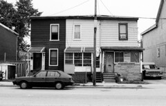 65-69 Leslie St - 1 - September 20, 1998 (collations) Tags: toronto ontario architecture blackwhite documentary vernacular streetscapes builtenvironment urbanfabric lesliest